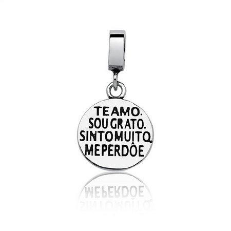 Berloque Ho'oponopono Prata 925