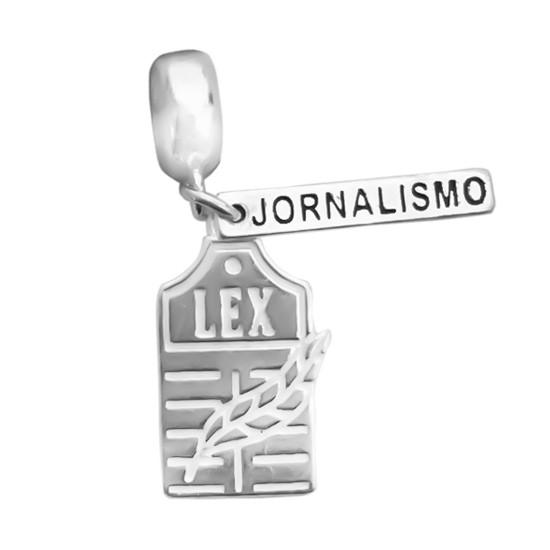 Berloque Jornalismo Prata 925