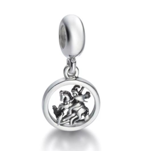 Berloque Medalha de São Jorge Prata 925