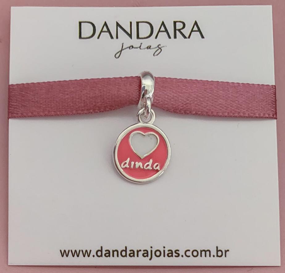 Berloque Medalha Dinda de Menina Prata 925