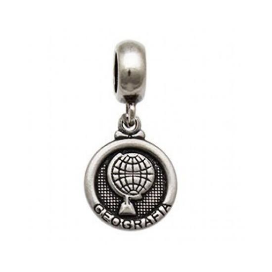 Berloque Medalha Geografia Prata 925