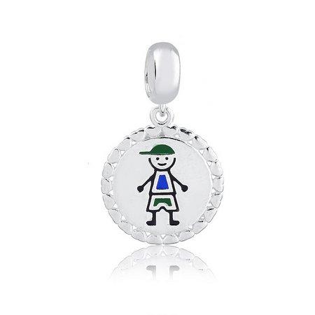Berloque Medalha Menino Prata 925