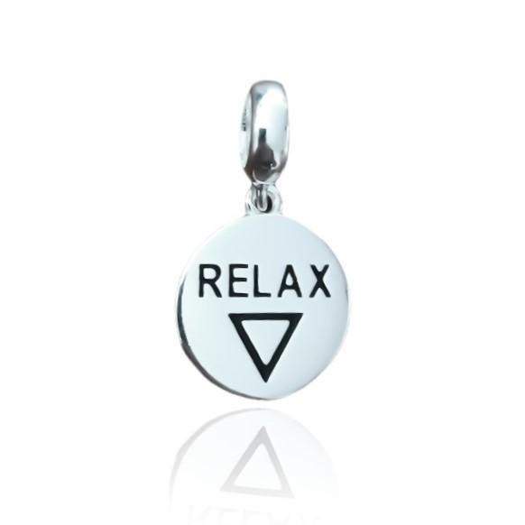 Berloque Medalha Relax Prata 925