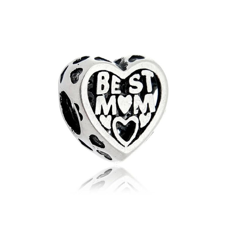Berloque Melhor Mãe Prata 925
