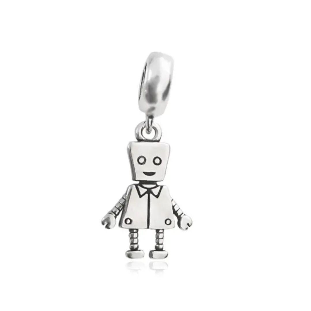 Berloque Menino Robô Prata 925