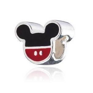 Berloque Mickey Colorido Prata 925