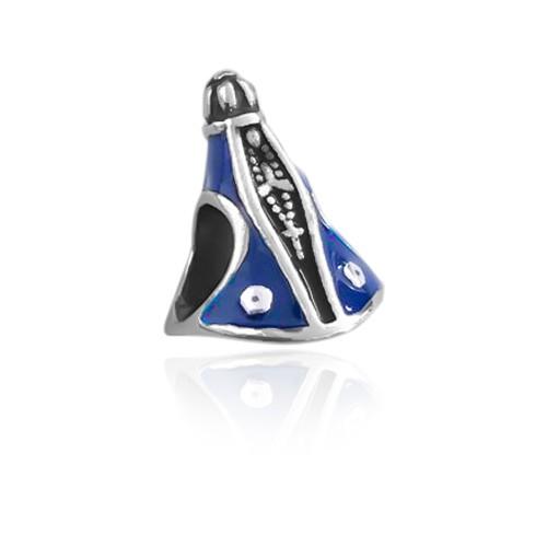 Berloque Nossa Senhora Aparecida Azul Prata 925