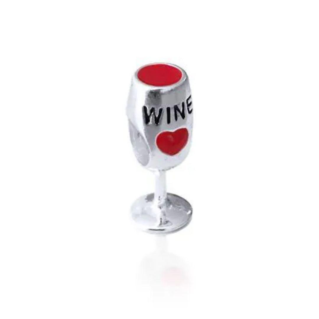 Berloque Taça de Vinho Prata 925