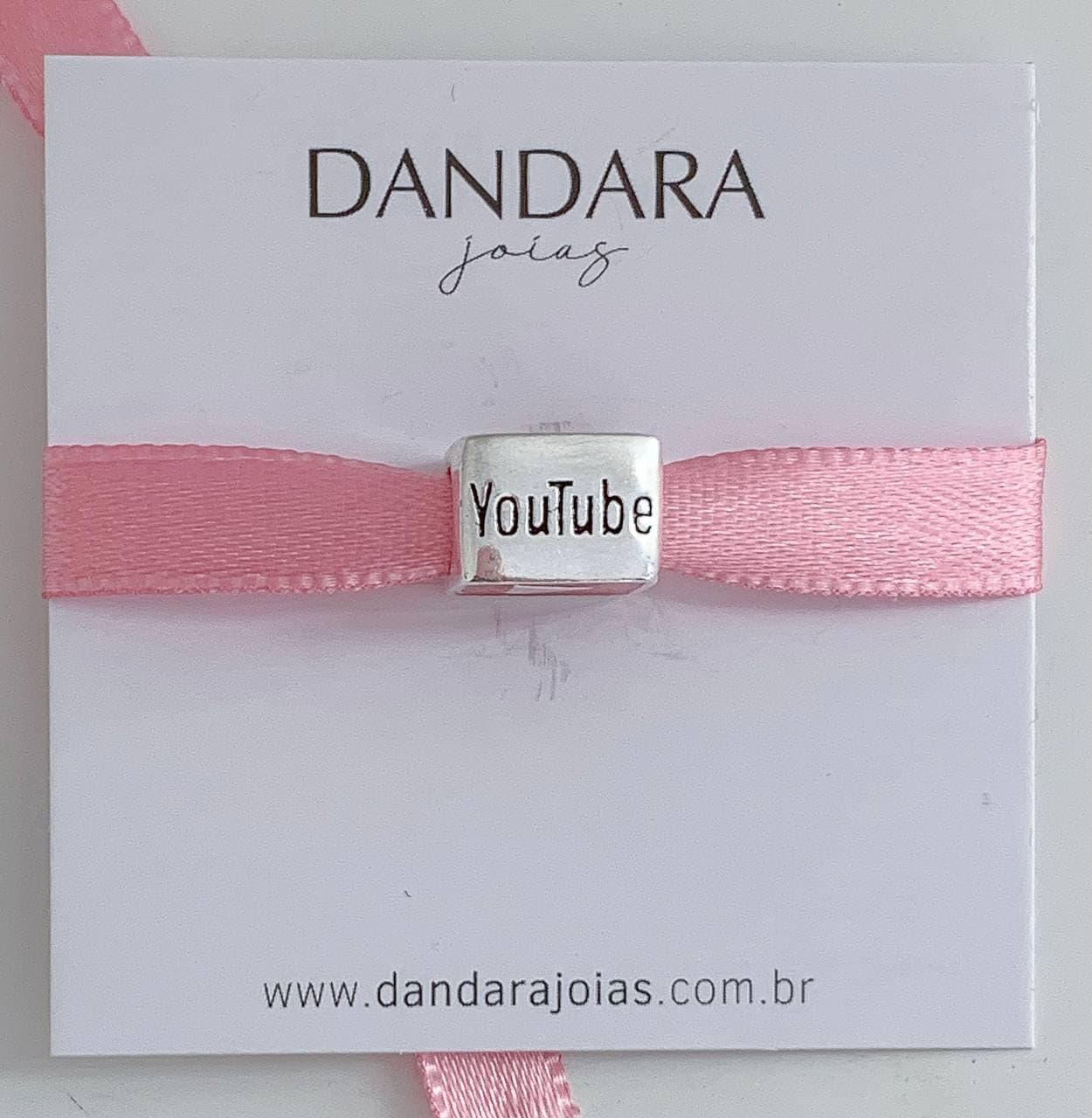 Berloque Youtube Prata 925