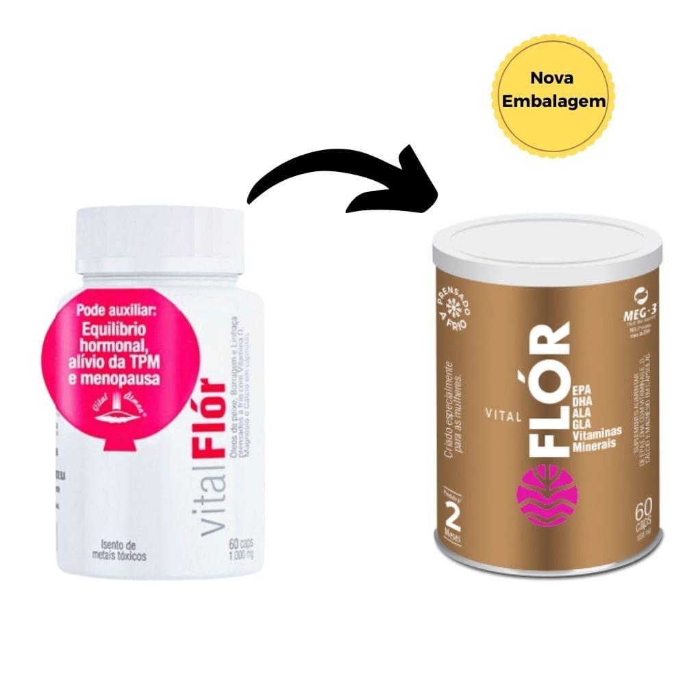 2 Vital Flór | Alívio da TPM | Equilíbrio Hormonal | Menopausa