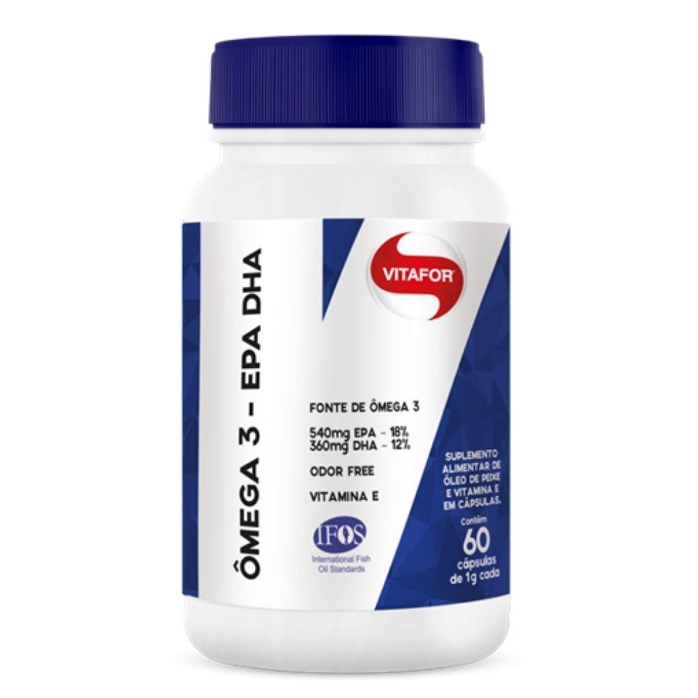 2x Omega 3 EPA - DHA 1g 60 caps Vitafor