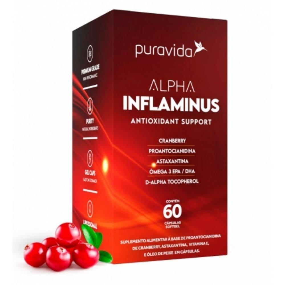 Alpha Inflaminus (60 Cápsulas) - Puravida   SUPLEMENTO ANTIOXIDANTE