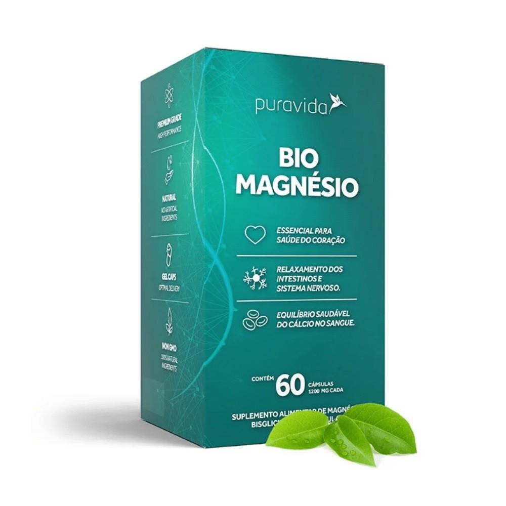 Bio Magnésio - 60 Cápsulas - Puravida