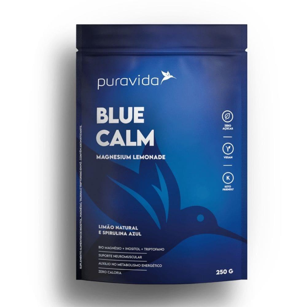Blue Calm 250g Magnésio+inositol+spirulina Azul - Puravida