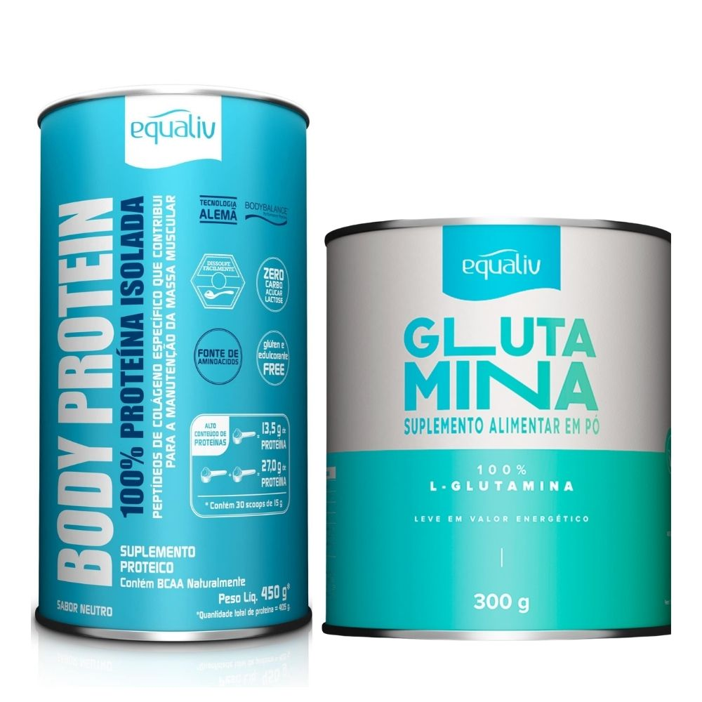 Body Protein + Glutamina | Combo Atividade Física