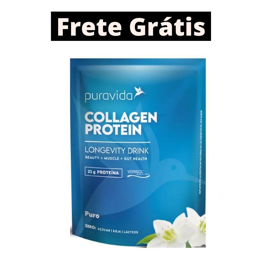 Collagen Protein Puro 450g Puravida | Frete Grátis