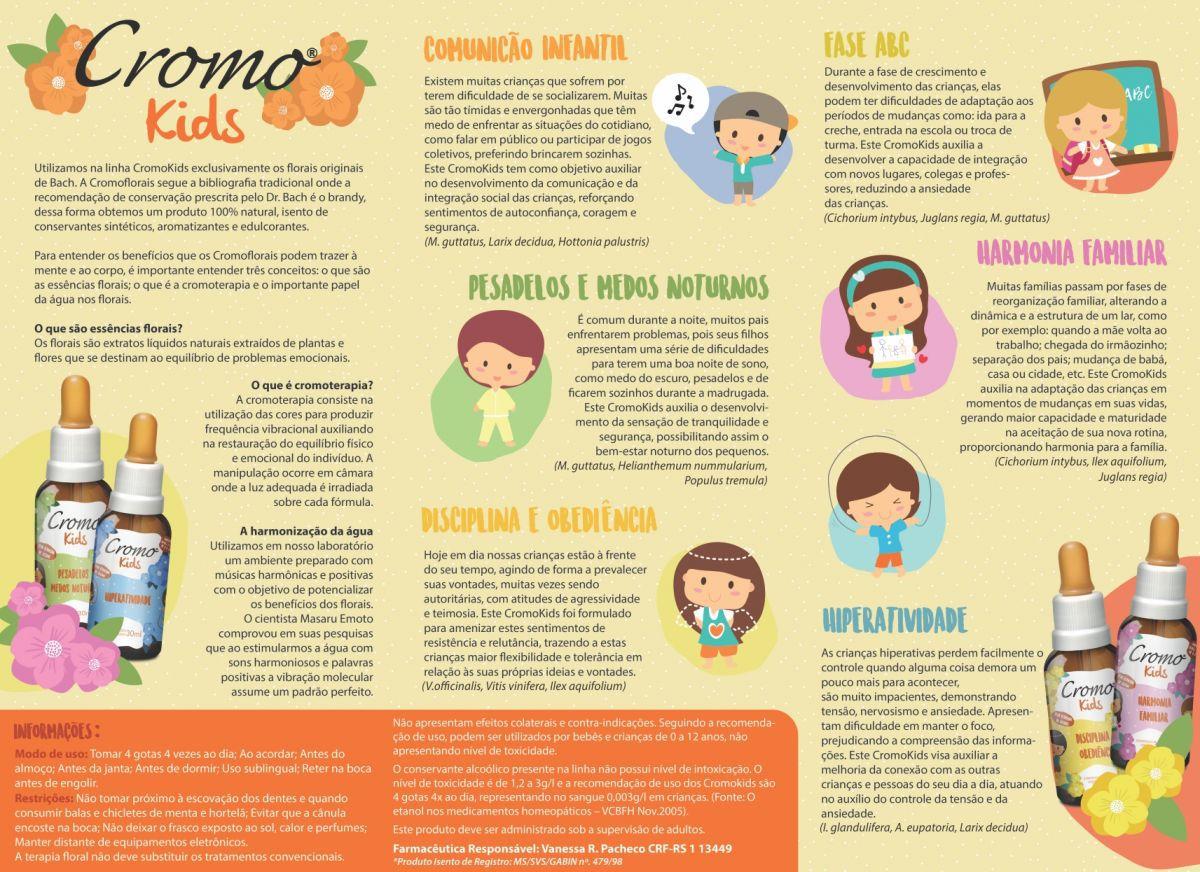 Comunicação Infantil - Cromokids Florais De Bach kids