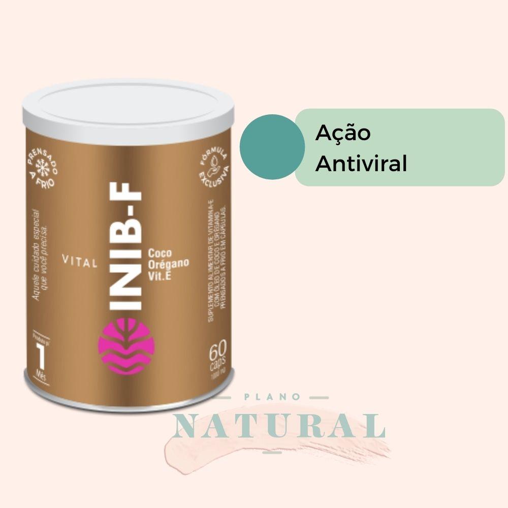 Kit 2 Vital Inib F Vitamina E Com Óleos de Coco e Orégano 60 Cáps de 1.000mg
