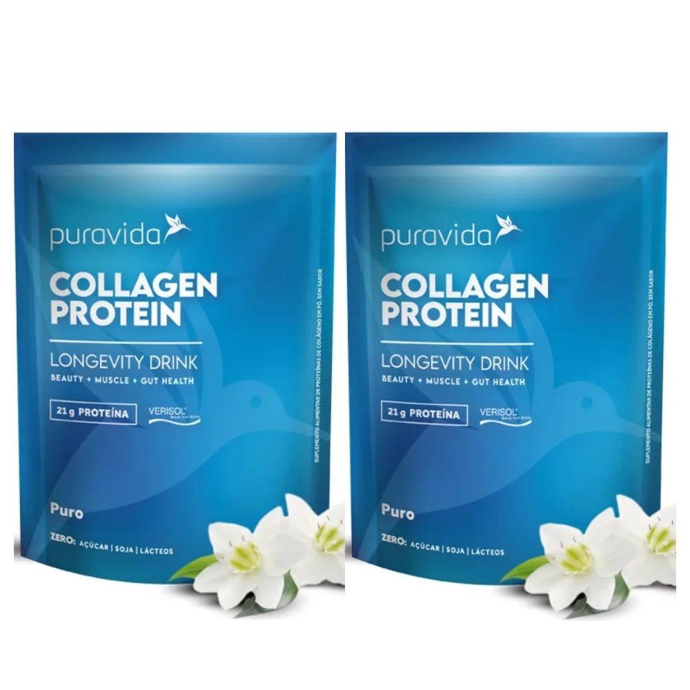 Kit 2x Collagen Protein Puro 450g Puravida