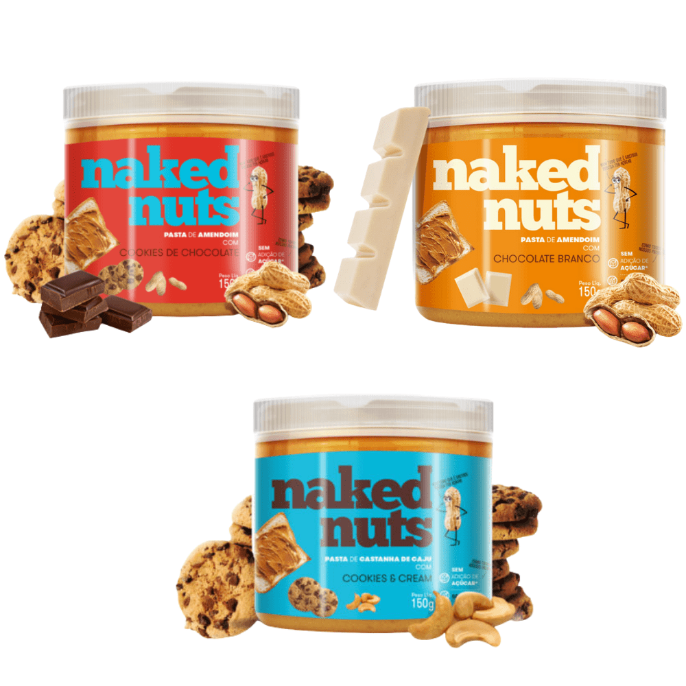 Kit c/ 3 Pastas Naked Nuts