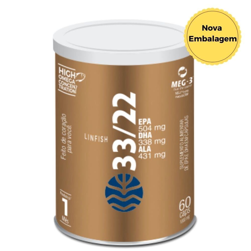 Lin Fish 33/22 |Óleo de Peixe | Incrível concentração de ômegas 6 e 9 |EPA e DHA