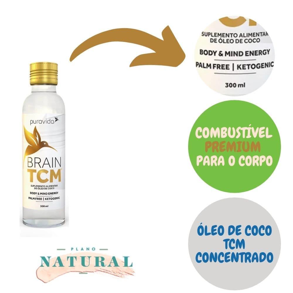 Óleo de Coco Brain TCM Puravida 300ml