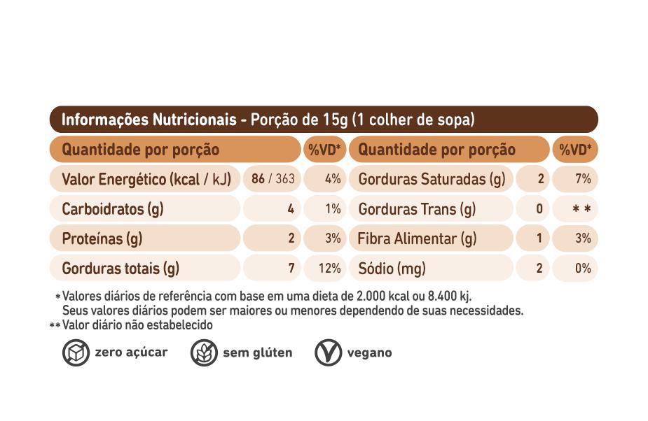 Pasta de Castanha de Caju com Chocolate Belga Crocante 450g - Ganhe Brinde