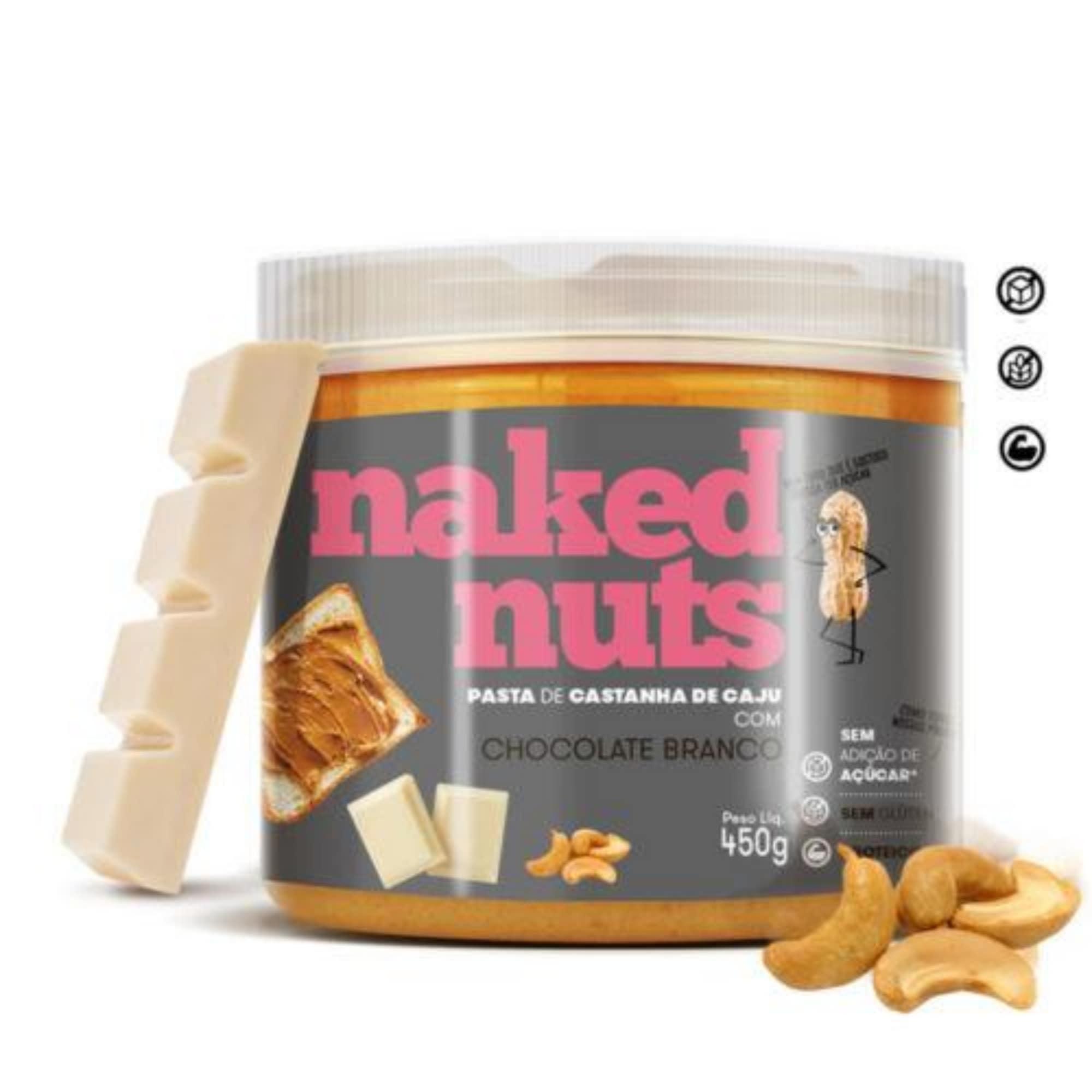 Pasta De Castanha De Caju Com Chocolate Branco Naked Nuts 450g - Ganhe Brinde