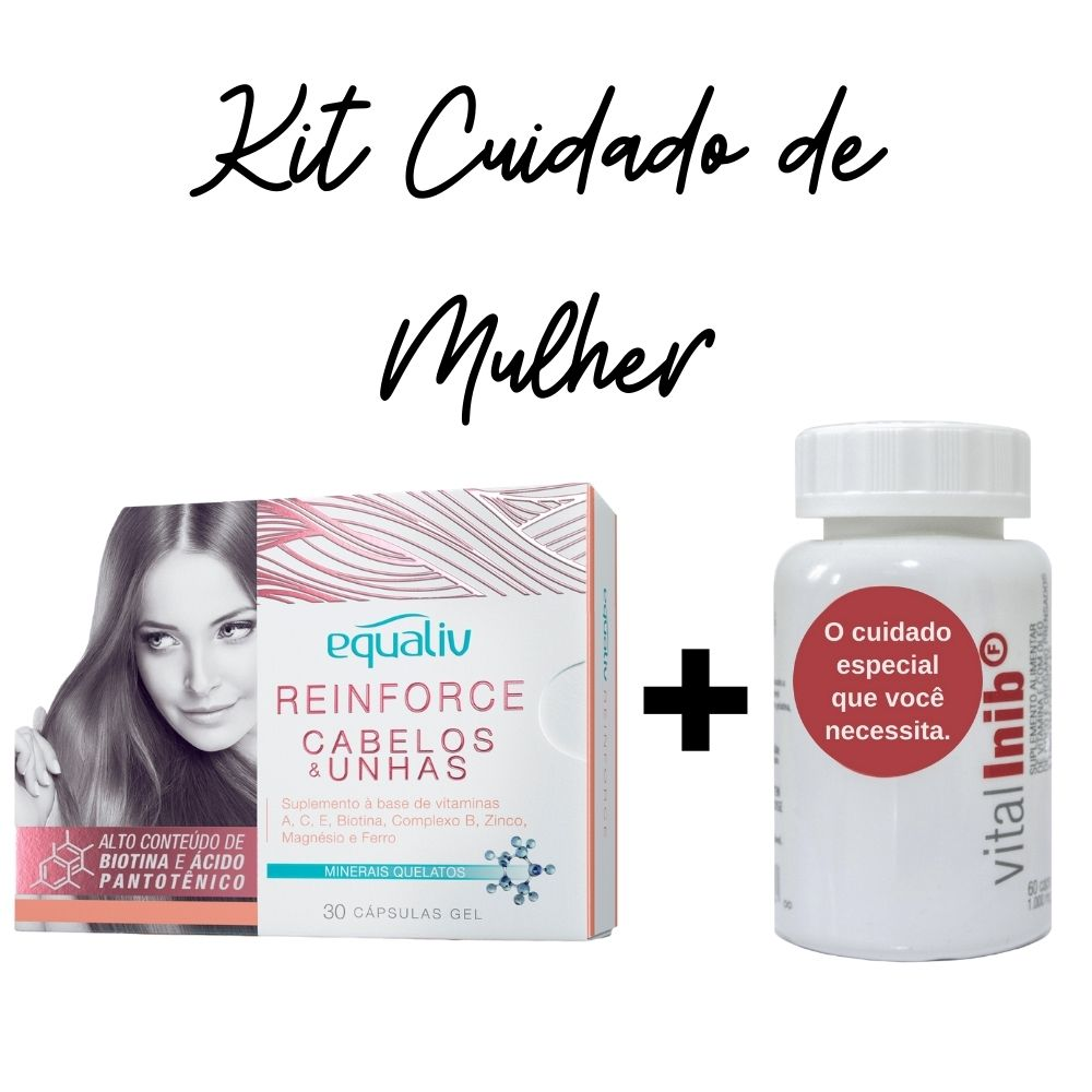 Reinforce Biotina + Inib F Vitamina E - Óleos de Coco e Orégano | Kit Cuidado de Mulher