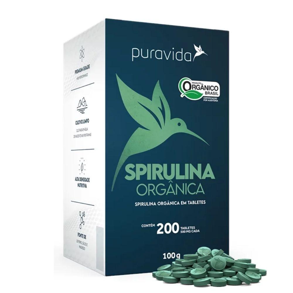 Spirulina Premium 100g 200 Tabl De 500 Mg - Puravida