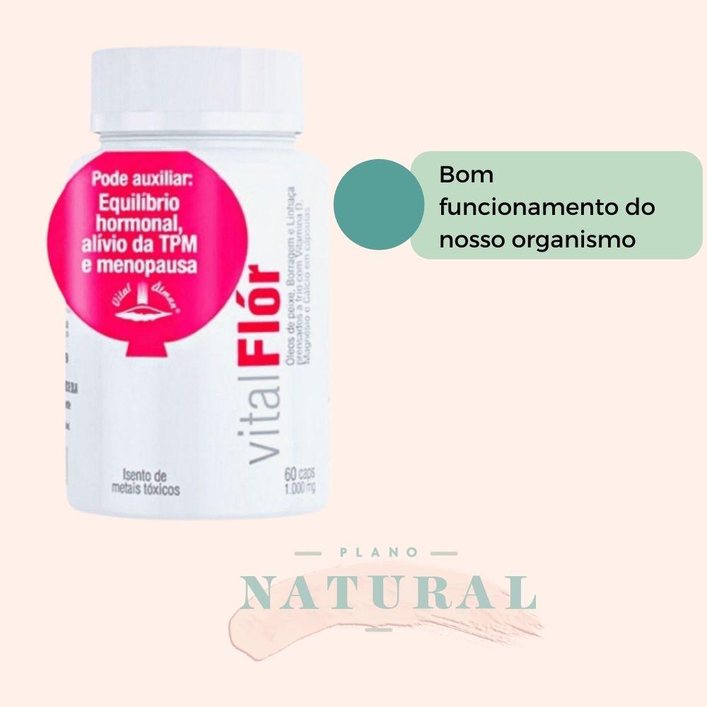 Vital Flór-óleo De Peixe, Borragem e Linhaça-tpm E Menopausa | Alta Concentração