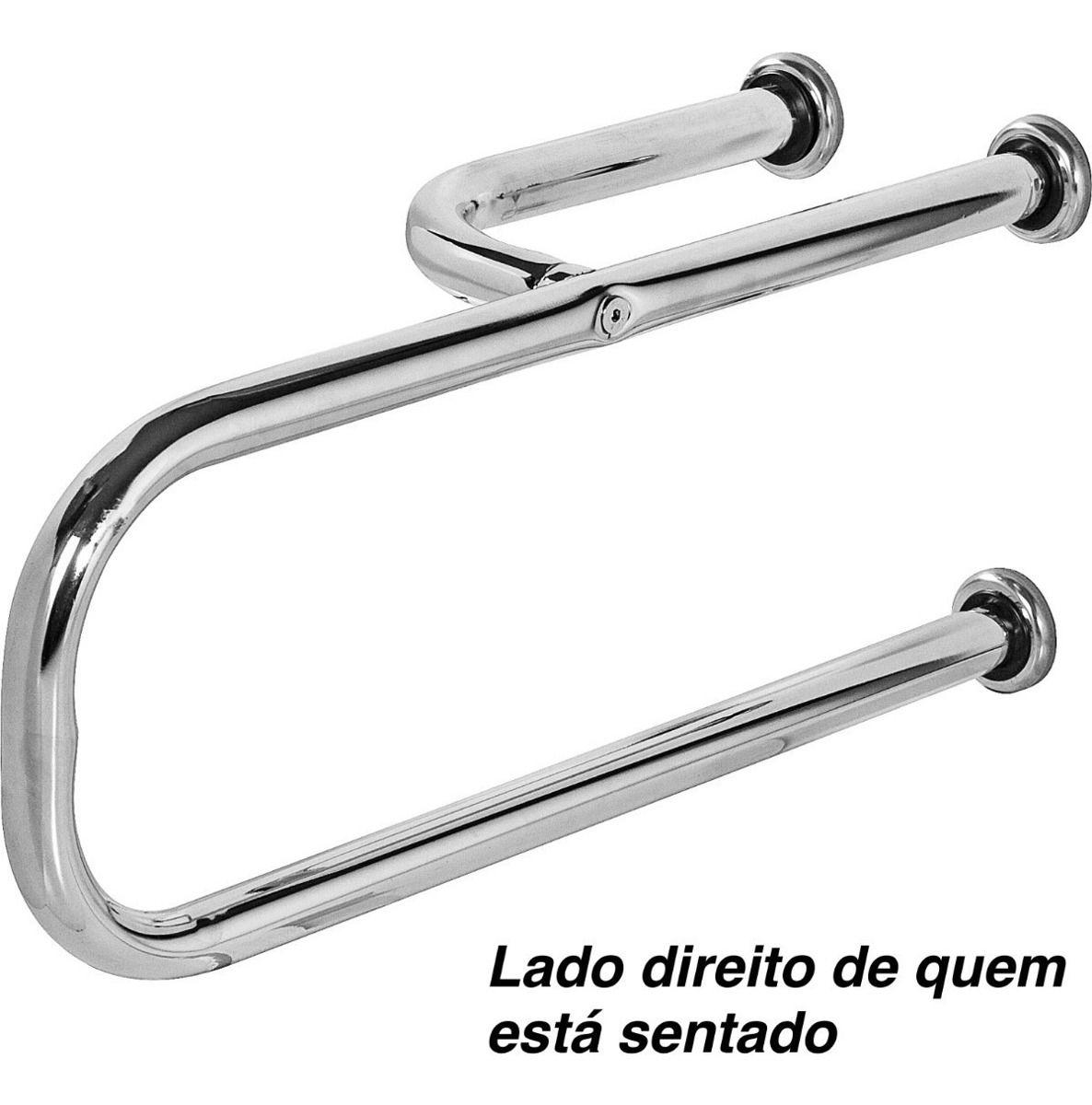 Barra De Apoio Para Vaso Sanitário 70x20cm Direito