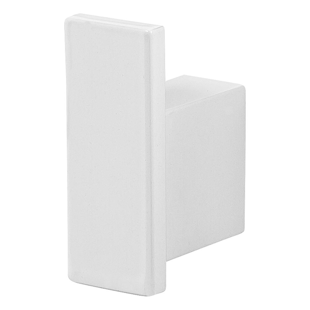 Cabide Para Banheiro De Parede Branco Master Dupla Fixação