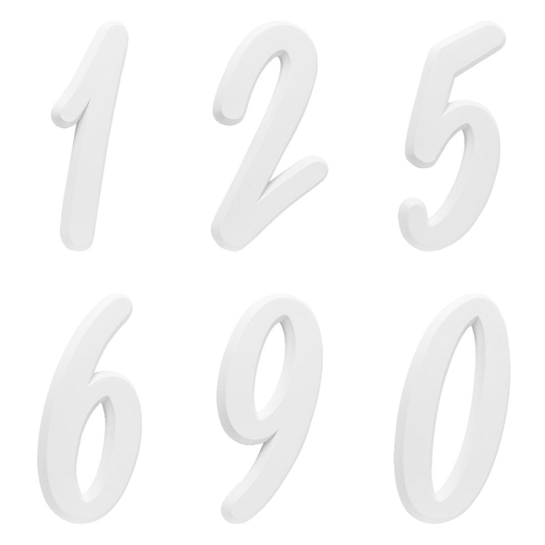 Kit 2 Números Residencial Para Casa Branco 3D 22cm
