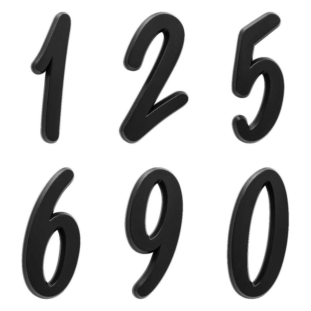 kit 3 Números Residencial Para Casa Preto 3D 22cm