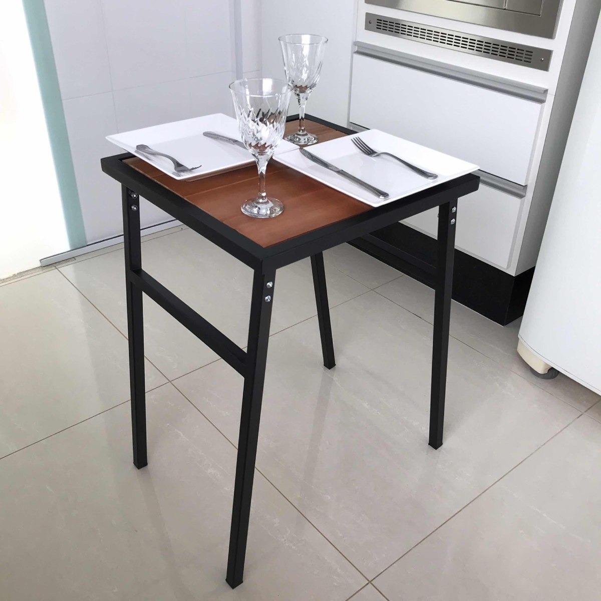 Mesa Pequena Quadrada Para Cozinha Ou Sacada De Apartamento