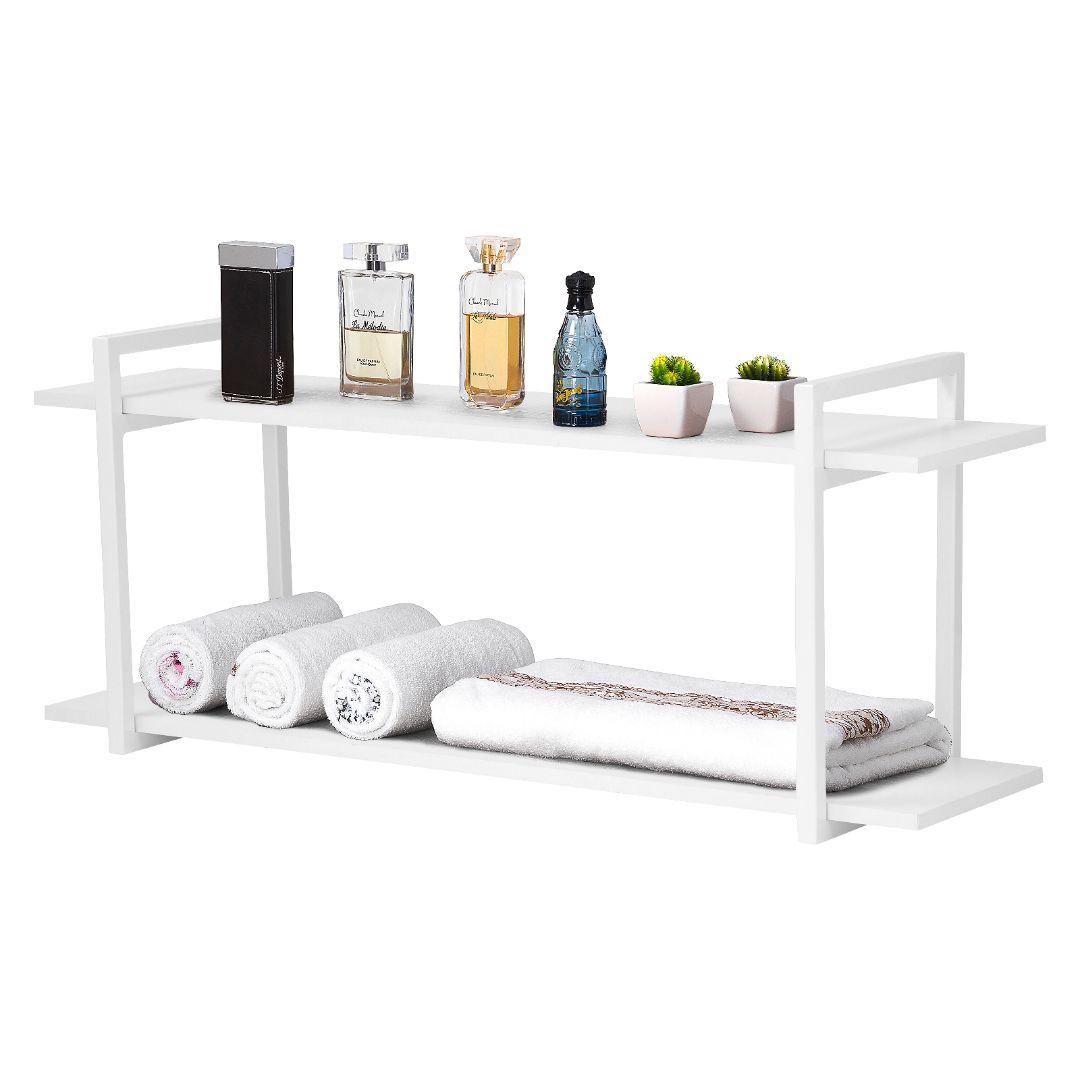 Nicho Banheiro Branco Com Prateleiras Branco 100cm