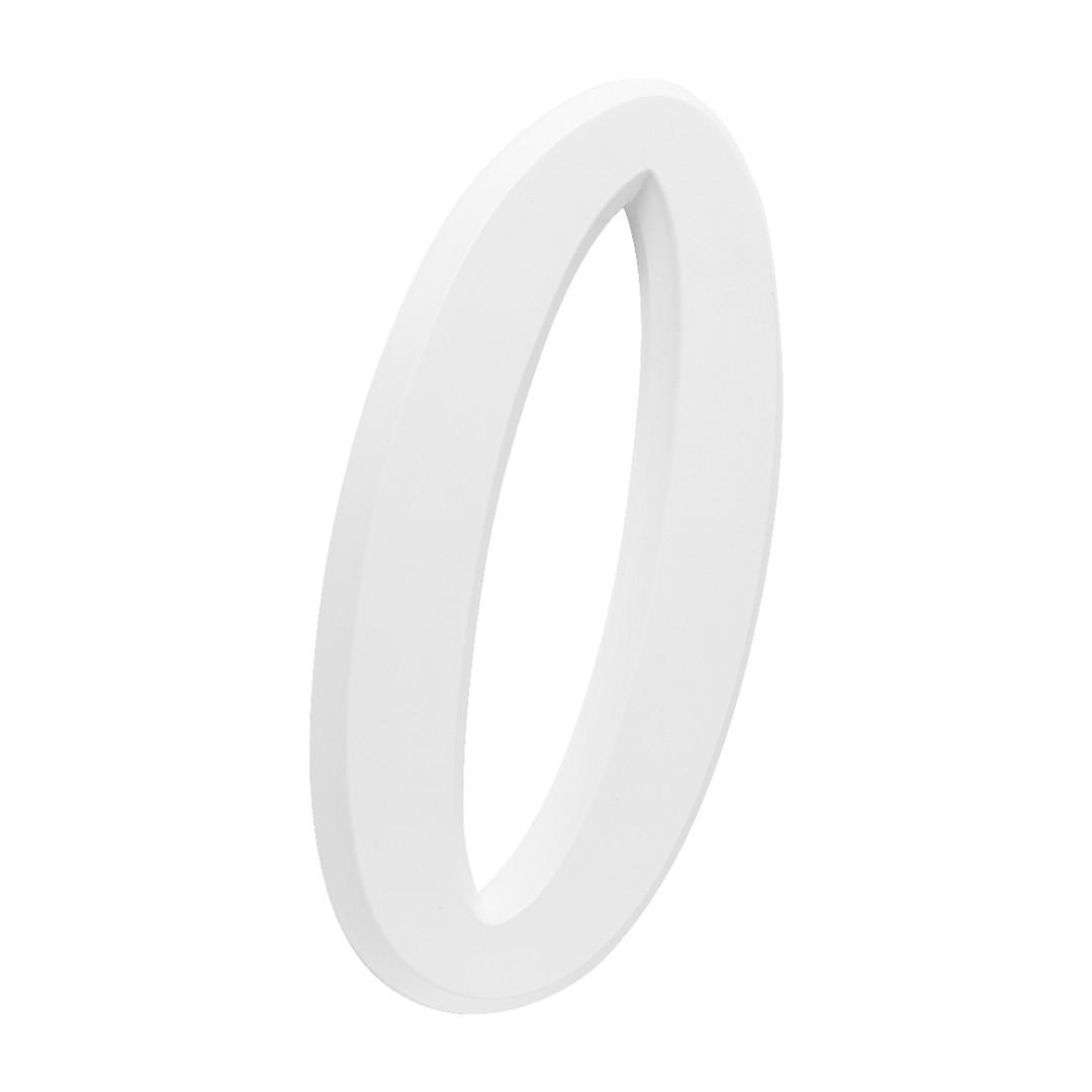 Número Residencial Para Casa 0 Branco 3D 22cm