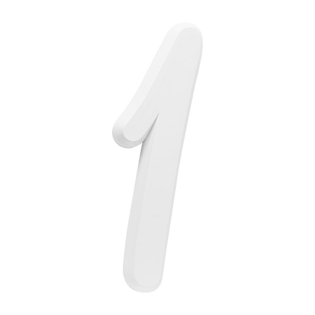 Número Residencial Para Casa 1 Branco 3D 22cm