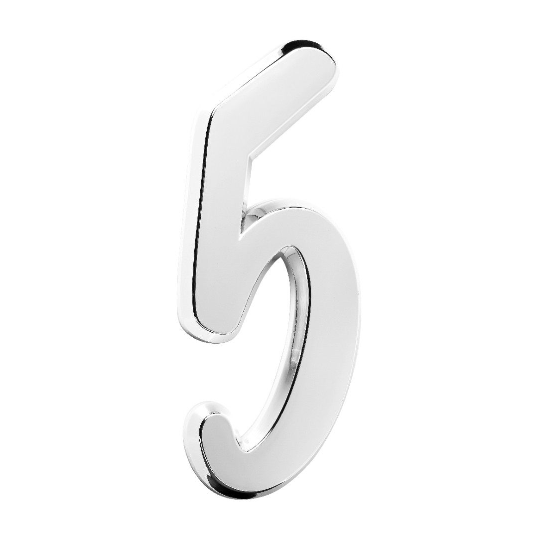 Número Residencial Para Casa 5 Espelhado 3D 22cm