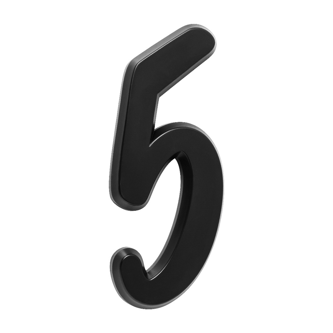 Número Residencial Para Casa 5 Preto 3D 22cm
