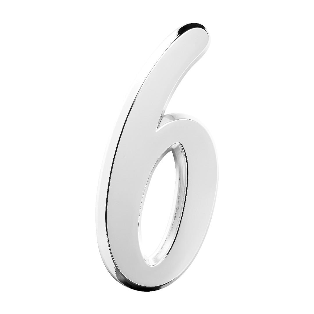 Número Residencial Para Casa 6 Espelhado 3D 22cm