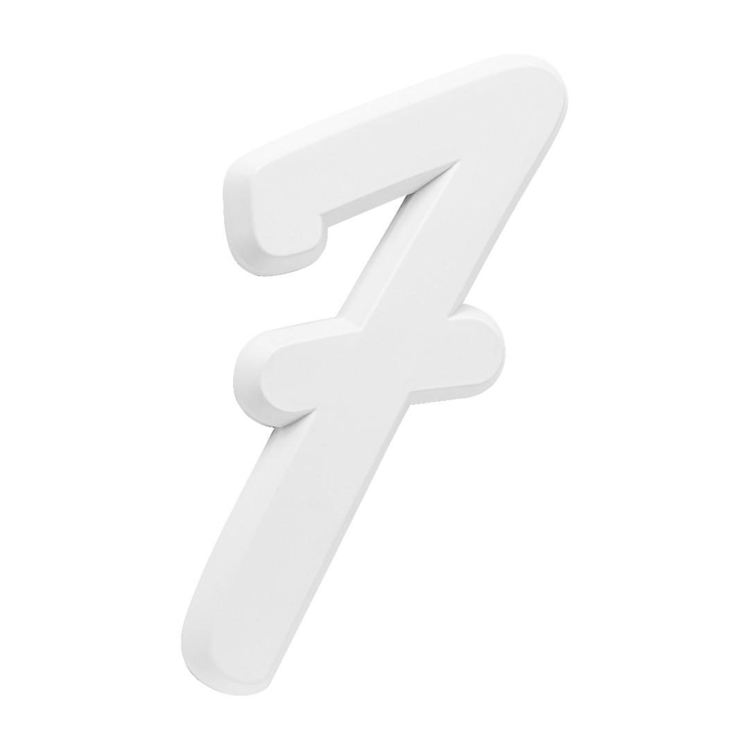 Número Residencial Para Casa 7 Branco 3D 22cm