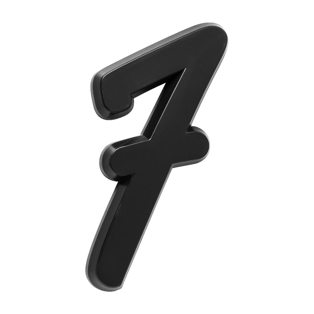 Número Residencial Para Casa 7 Preto 3D 22cm