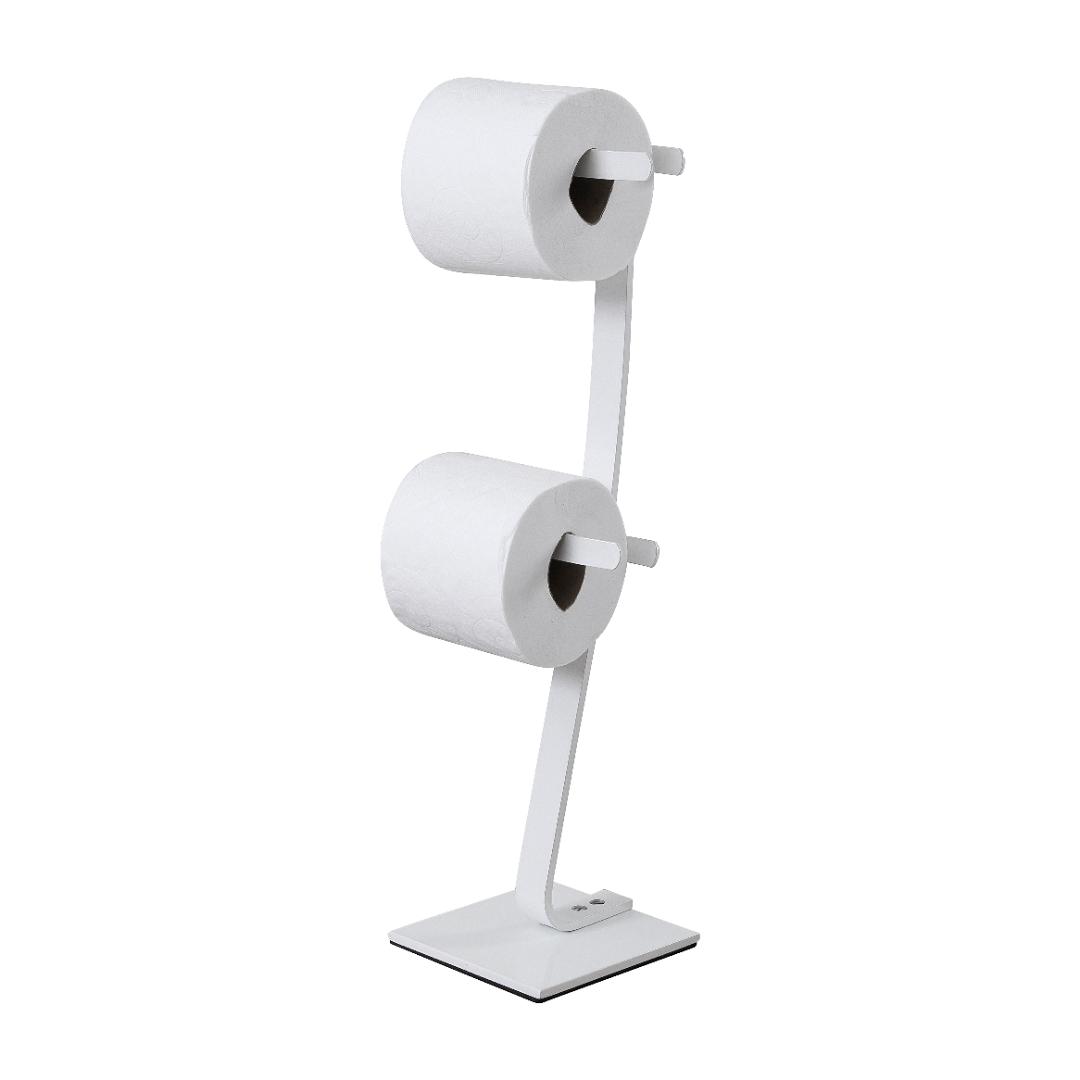 Porta Papel Higiênico de Chão com Reversa Dupla Branco