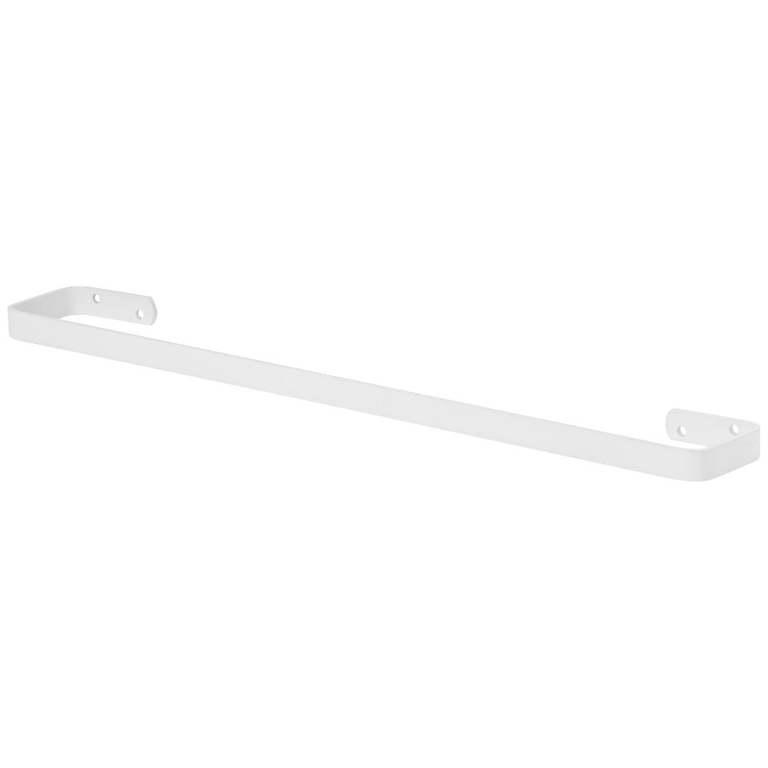 Porta Toalha De Banho Para Banheiro Branco Plus 60cm