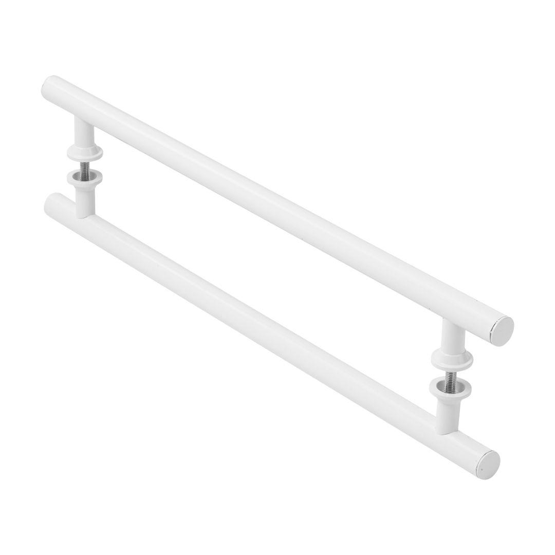 Puxador Branco Para Porta De Vidro Madeira Pivotante 60cm