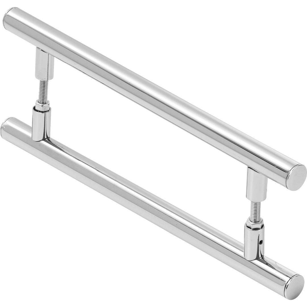 Puxador De Porta Redondo Para Vidro E Madeira 40cm
