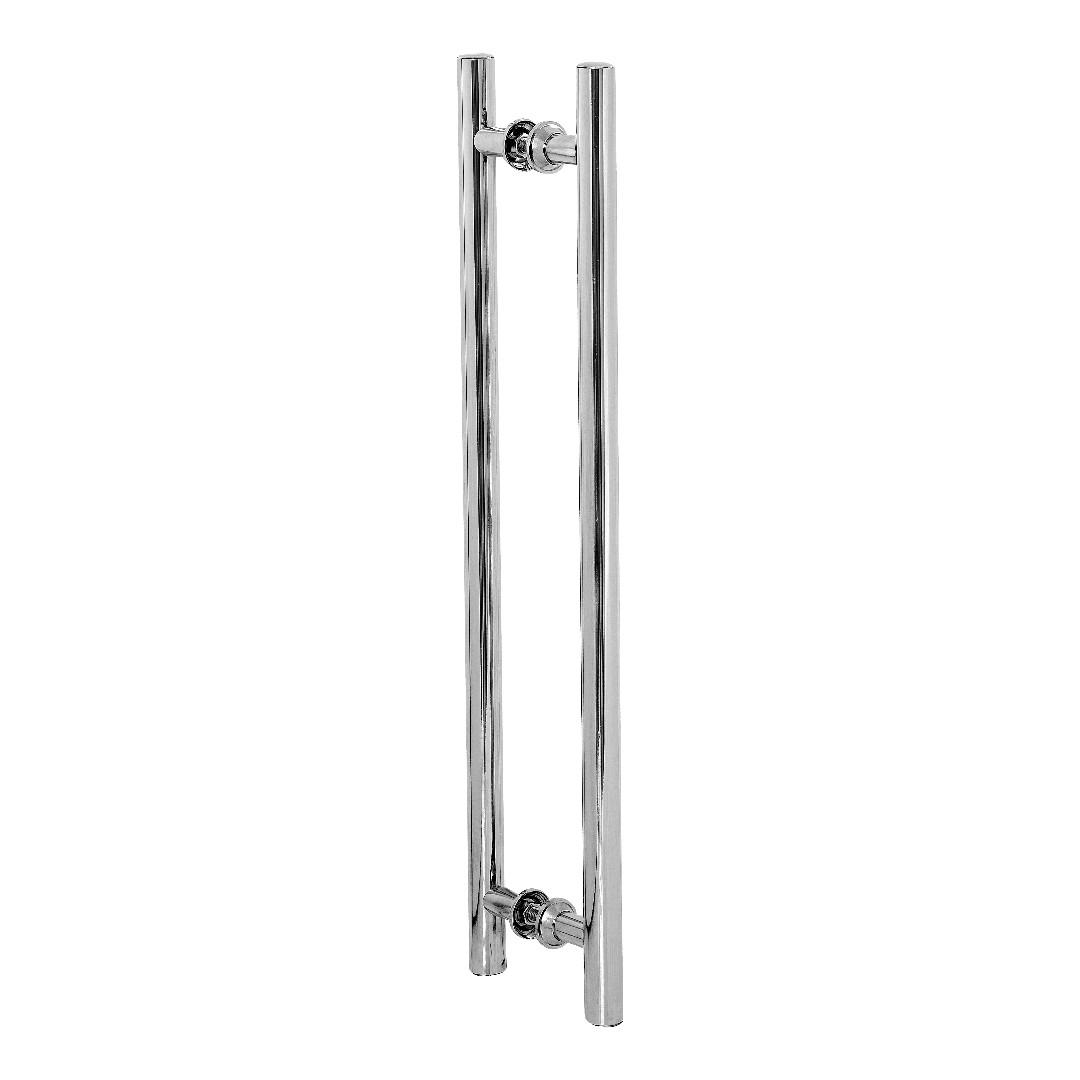 Puxador De Porta Redondo Para Vidro E Madeira 90cm