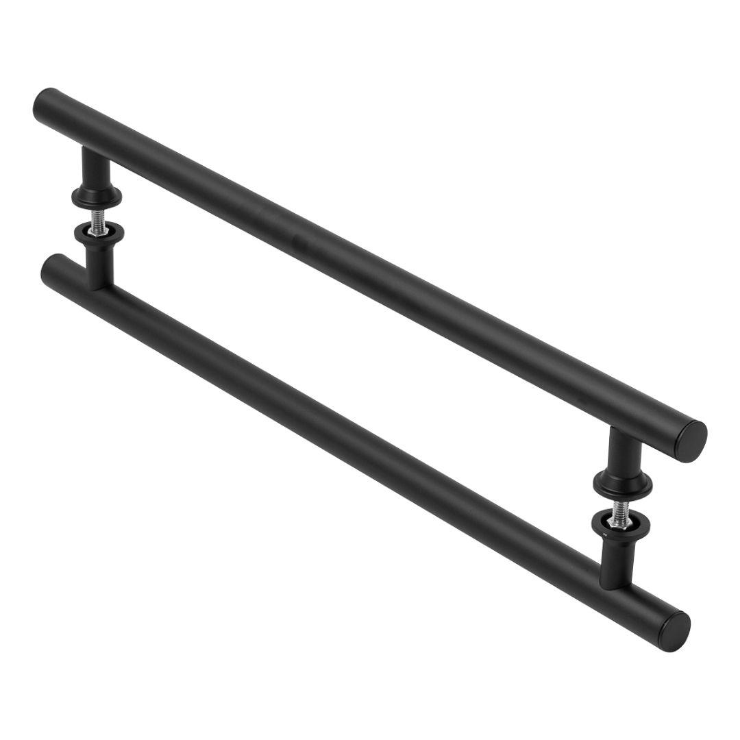 Puxador Preto Para Porta De Vidro E Madeira 40cm
